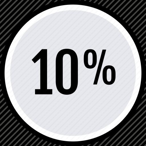 info, percent, ten icon