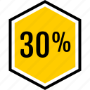 data, percent, thirty icon