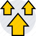 arrows, info, three, up icon