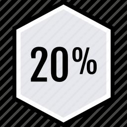 info, percent, twenty icon