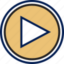 play, playback, video icon