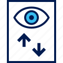 activity, eye, view, watch icon