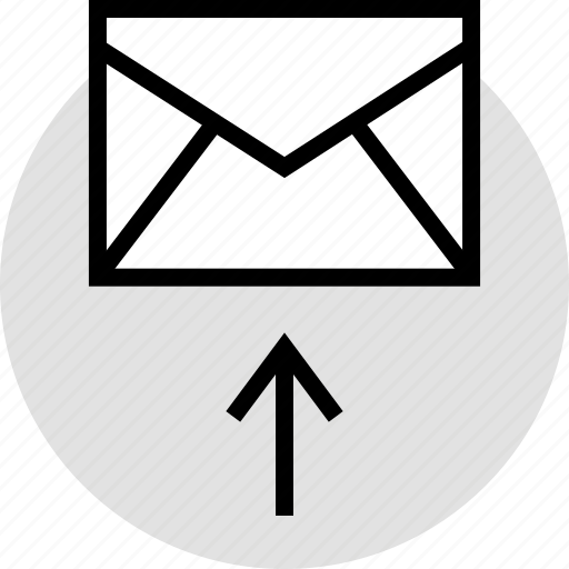 arrow, email, internet, up icon