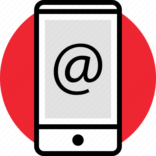 cell, contact, email, phone icon
