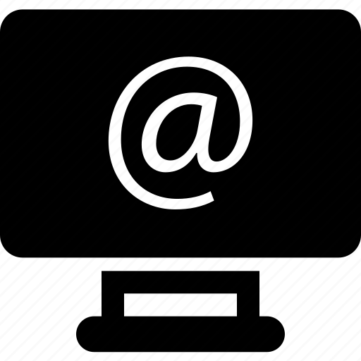 at, internet, monitor icon