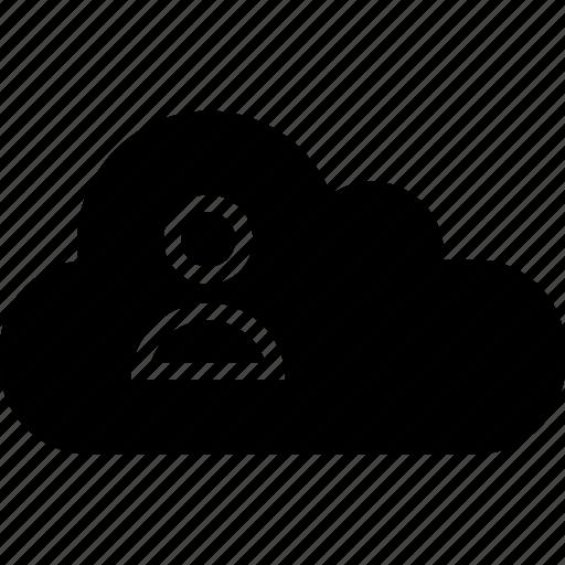 activity, cloud, user icon