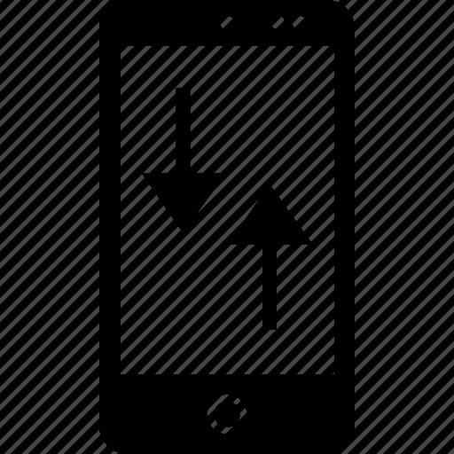 activity, arrow, down, up icon