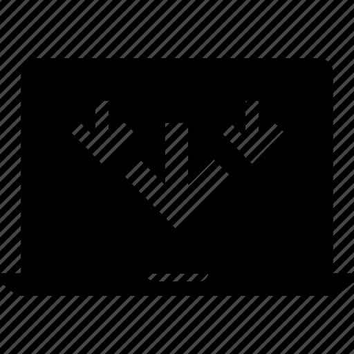 arrows, network, three icon