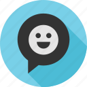 chat, emoji, happy, talk icon