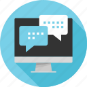 chat, conversation, online, talk icon