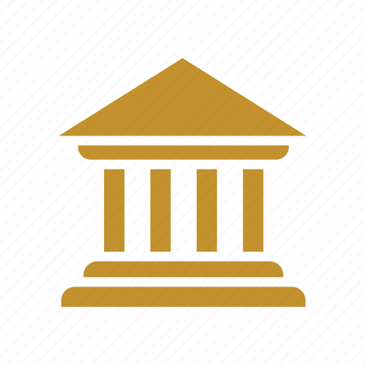 bank, banking, building, court, courthouse, finance, institution icon