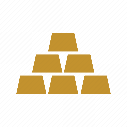 gold, gold bars, gold biscuits, gold bricks, gold pile, ingots, reserve icon