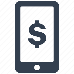 accounting, banking, currency, dollar, finance, mobile, money, online, payment, phone, price, shopping, smartphone, telephone, transfer icon