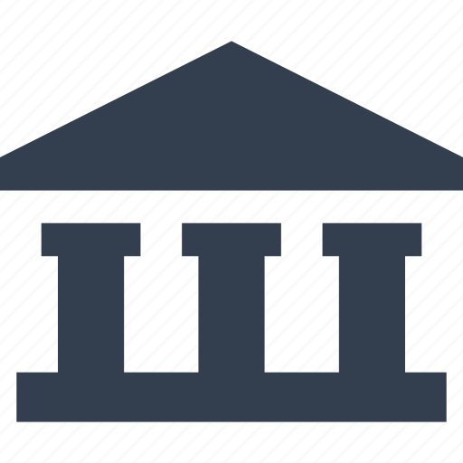 bank, banking, building, court, finance, financial, online icon