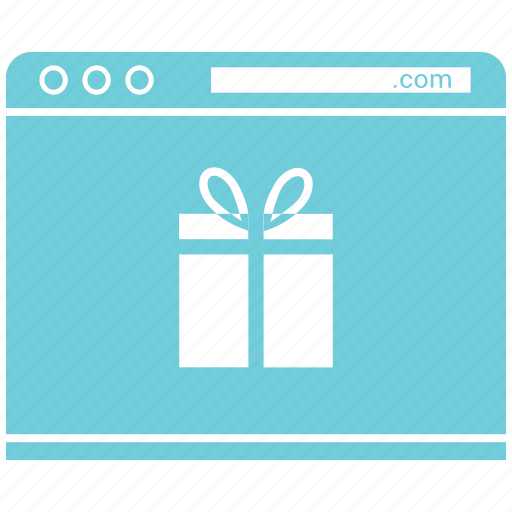 browser, gift, online gift send, page, shopping icon