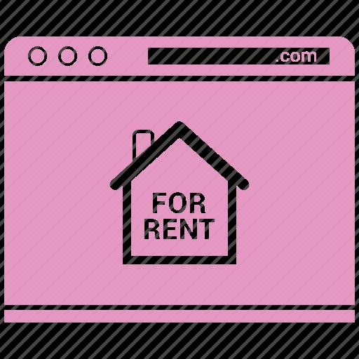 blog, browser, for rent, internet, online, website icon