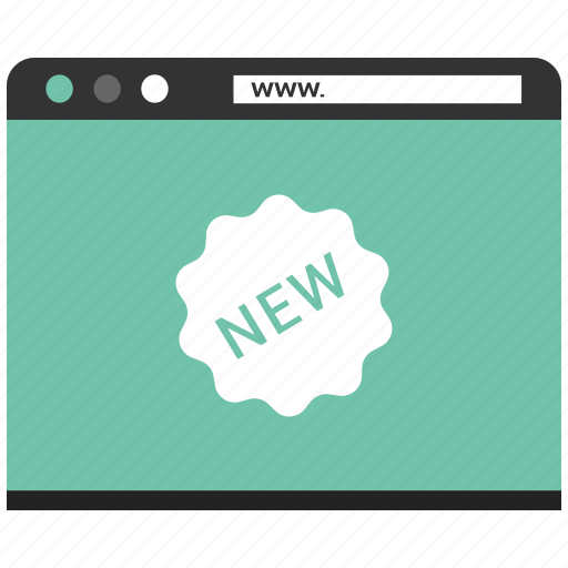 browser, new, page, shopping, web, website icon