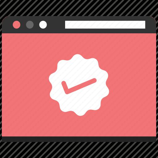 check, internet, ok, page, web, website icon