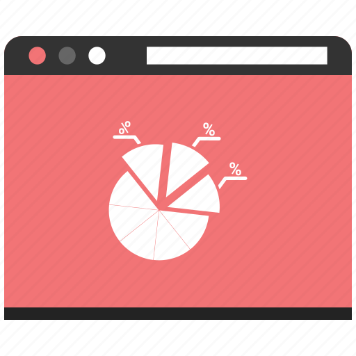 browser, pie chart, web, webpage, website icon