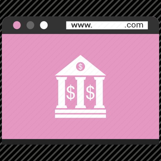 browser, online bank, online money send, web, webpage, website icon