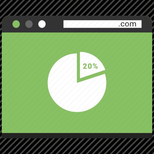 chart, internet, page, pie, web, website icon