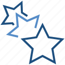achievement, business, favorite, rank, stars, three stars icon