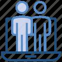 business, employees, group, laptop, notebook, online business, teamwork
