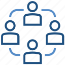business, information, online business, persons, sharing, users icon