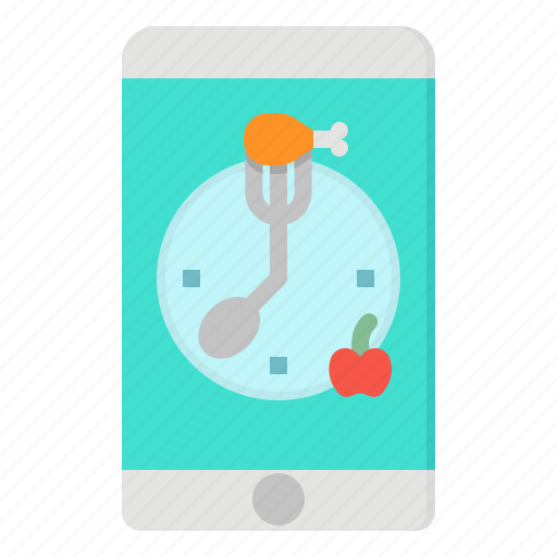 clock, meal, plan, service, time icon