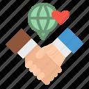 handshake, online, pr, public, relations icon
