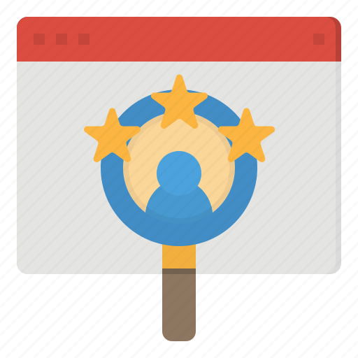 application, glass, magnifying, online, recruitment icon