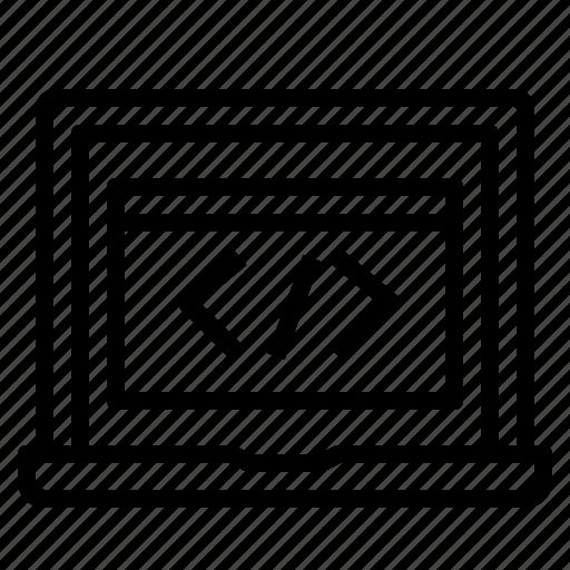 Code, development, programming, screen, web icon - Download on Iconfinder