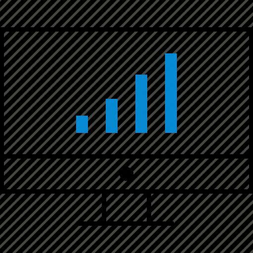 bars, business, data, graph, monitor, report icon