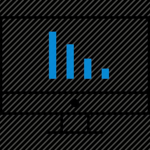 bars, data, internet, monitor icon