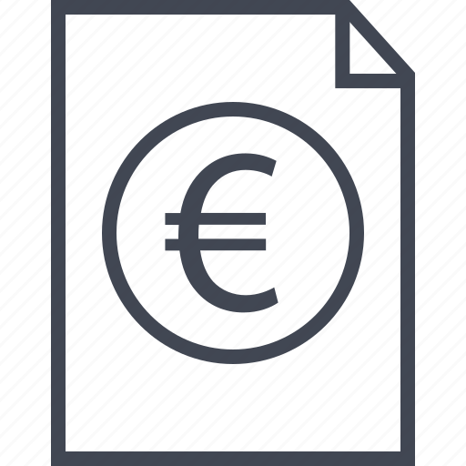 business, coin, contact, euro, money, plan, sign icon