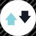 arrow, down, info, up