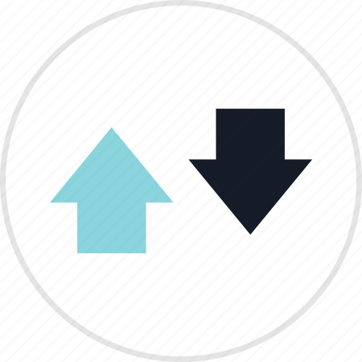 arrow, down, info, up icon