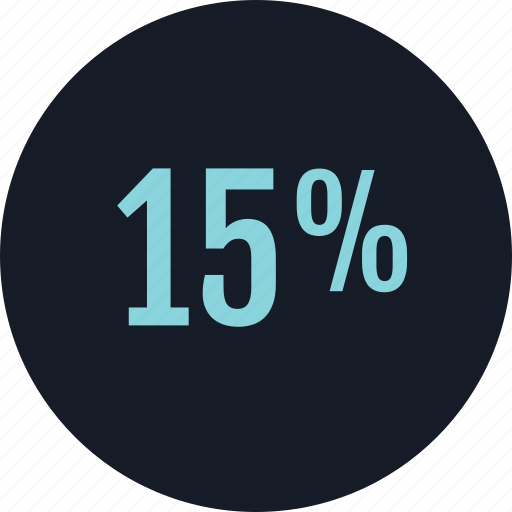 data, fifteen, infographic, percent icon
