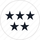 data, five, info, special, stars icon