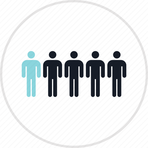 data, five, infographic, users icon