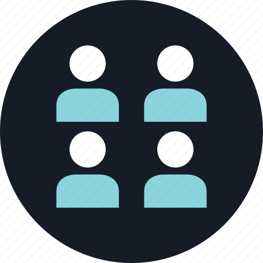 data, four, person, users icon