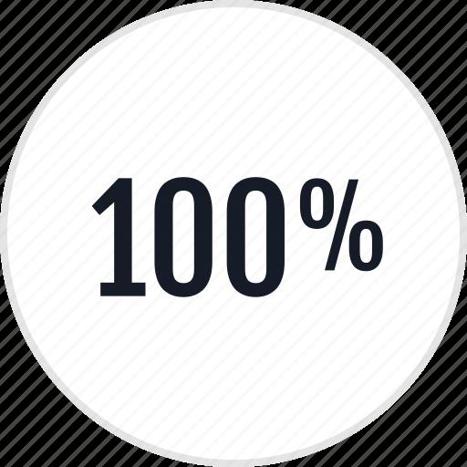 data, onehundred, percent icon