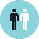 data, person, two, users icon