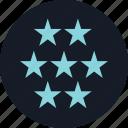 data, info, seven, special, stars icon