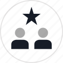 data, info, star, two, users icon