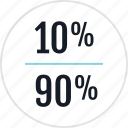 info, ninety, percent, ten icon