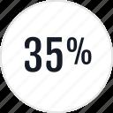 data, percent, thirtyfive icon