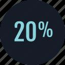 data, rate, twenty icon