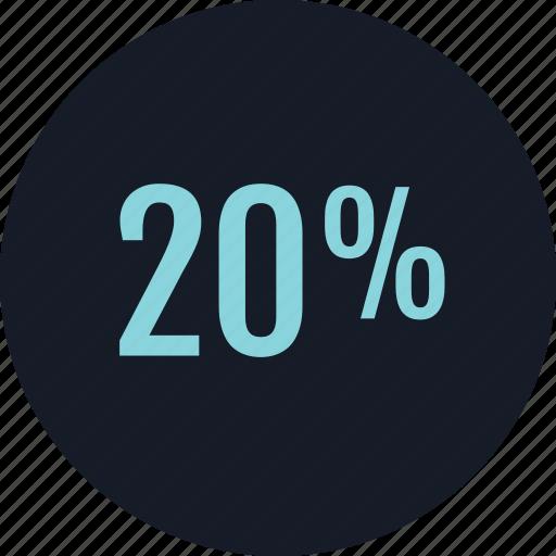 data, infographic, percent, twenty icon