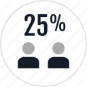 data, percent, twentyfive icon